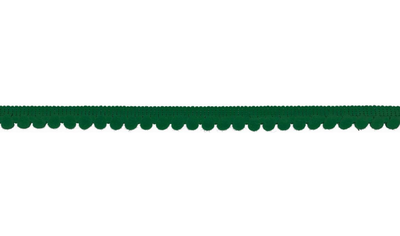 Pom Pom Borte in uni grün 6mm (525)