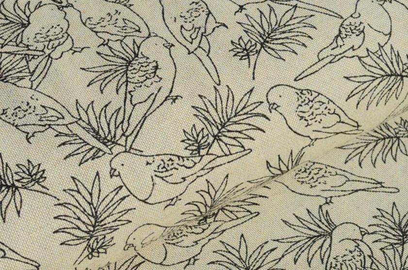Canvas beige mit Vögeln