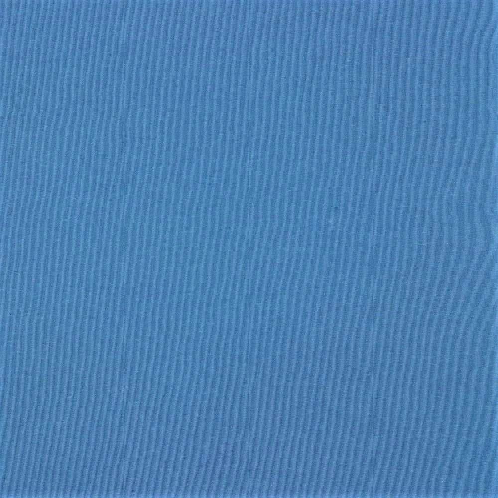 Organic Cotton Baumwolljersey uni jeansblau (018)