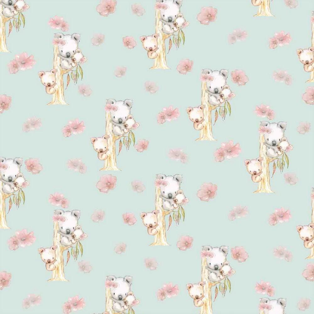 "Digitaljersey Organic Cotton ""Koala Family"" - hellmint"