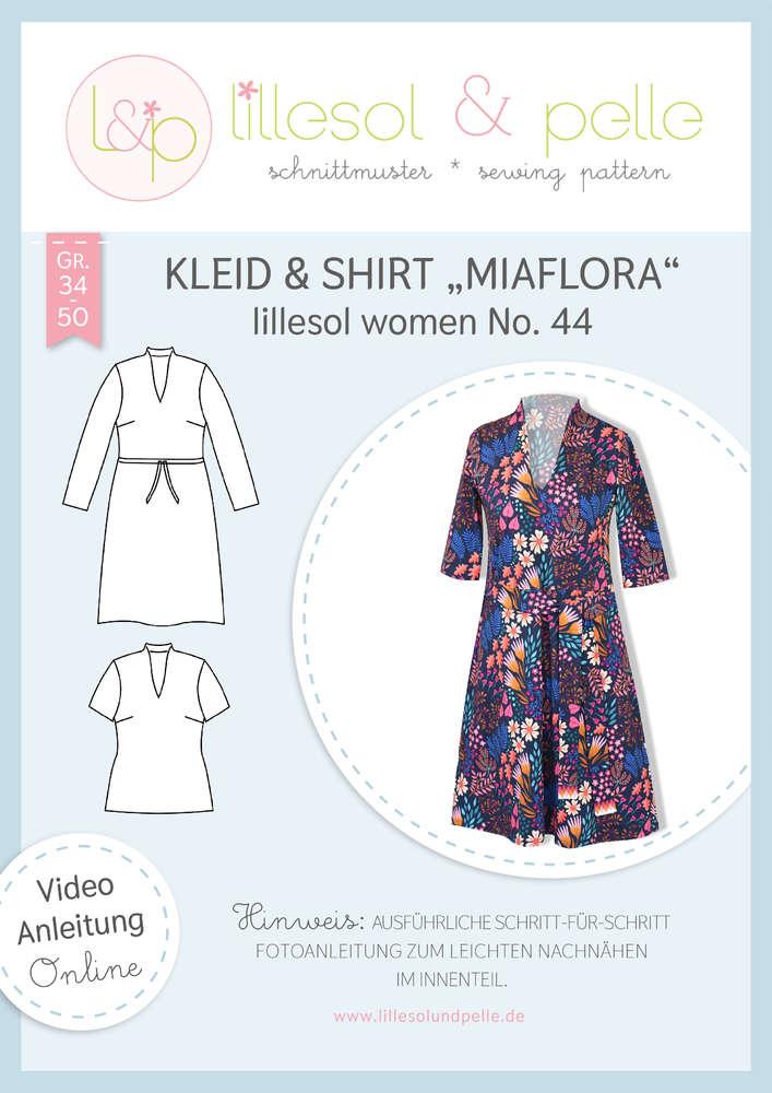 Papierschnittmuster Kleid & Shirt Miaflora lillesol women No.44 von Lillesol&Pelle