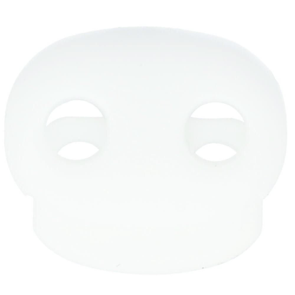 Kordelstopper 2-Loch oval weiß