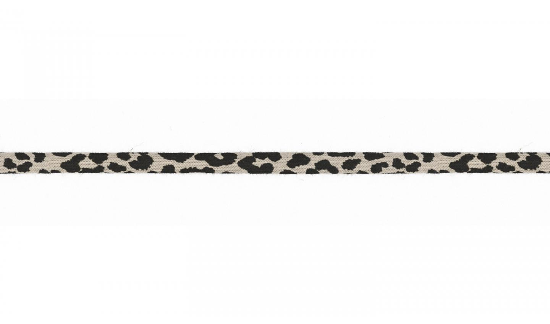 Jersey Kordel 6mm mit Leopardenmuster - sand (052)