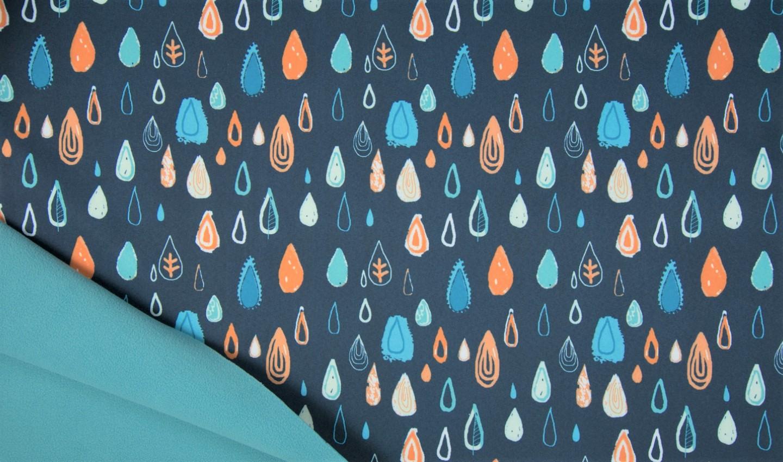 """Softshell """"Raindrops"""" - navy"""
