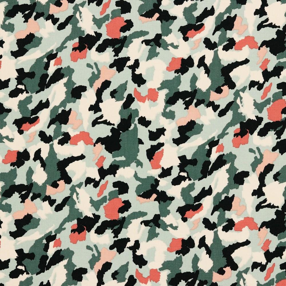 Viskose mit Camouflagemuster - mint