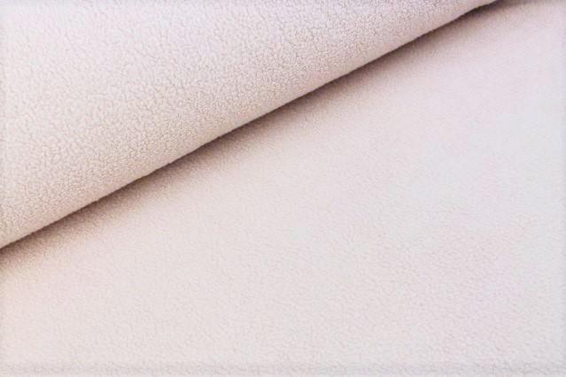 Baumwoll-Fleece uni dusty rose