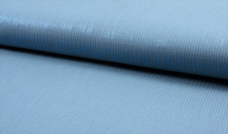 Baumwolle Musselin Double mit Lurex Streifen - dusty blue