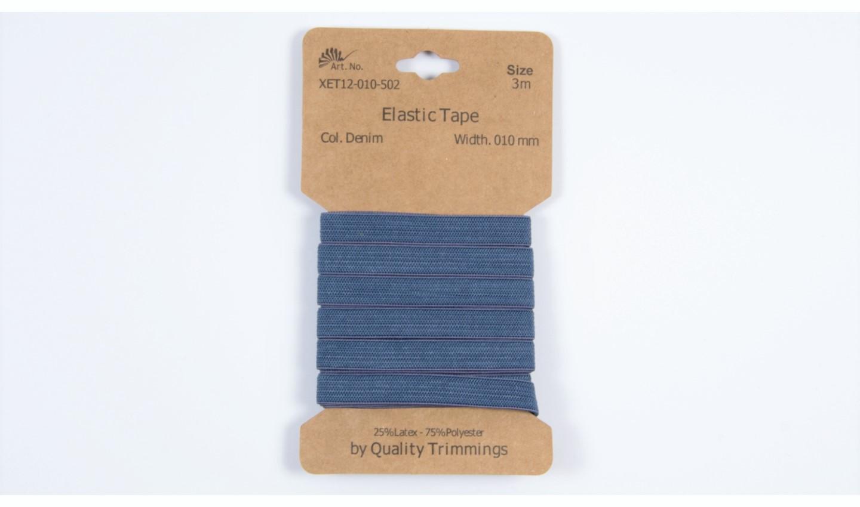 Karte 3m Elastik Gummi 10mm breit in jeansblau (502)
