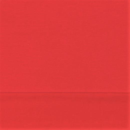 1,19m Reststück      Softsweat angeraut Organic Cotton uni rot (012)