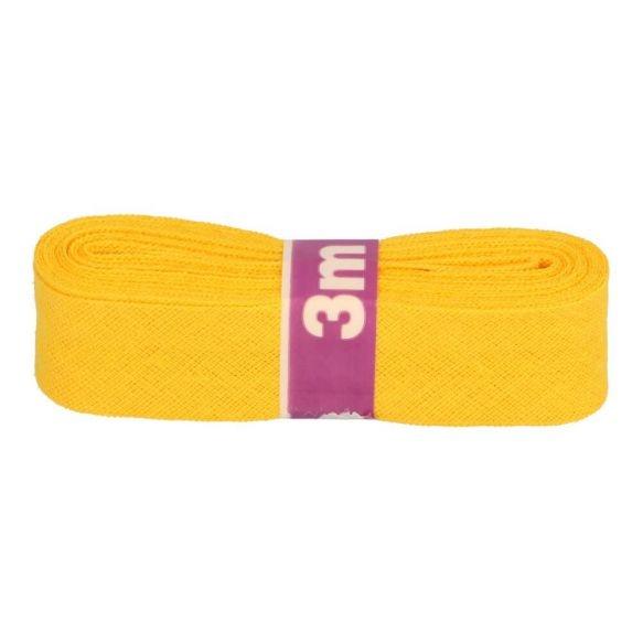 3m Baumwoll Schrägband uni gelb 12mm