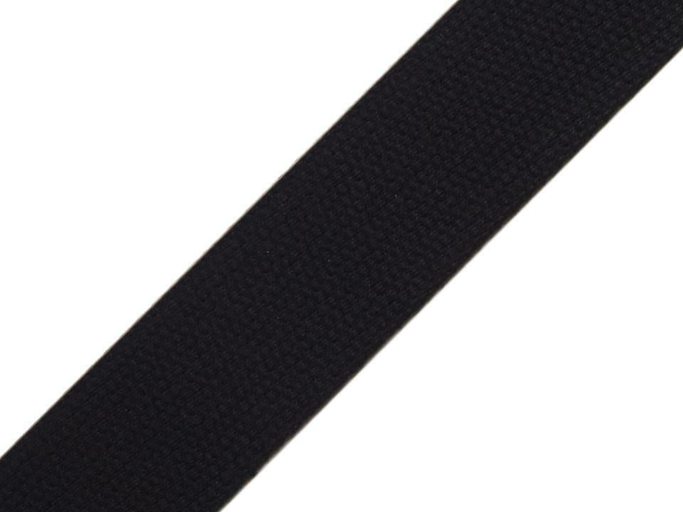 Gurtband Baumwolle 30mm uni schwarz