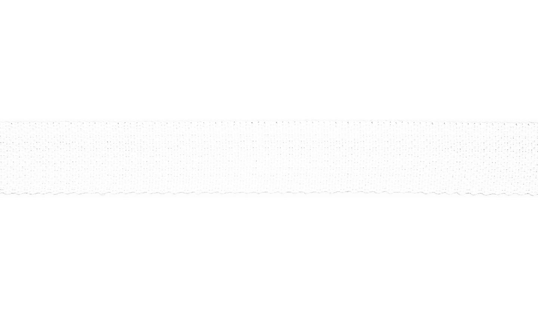 Gurtband Polyester 25mm uni weiß