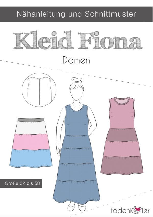 Papierschnittmuster Kleid Fiona für Damen 32-58 von Fadenkäfer