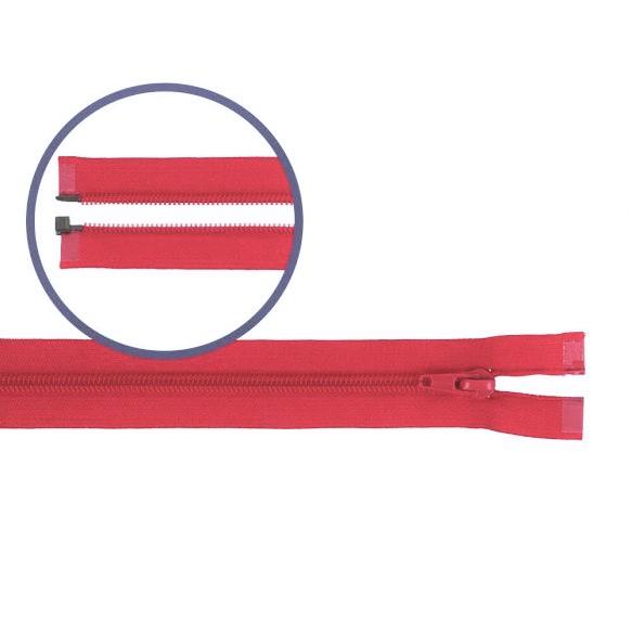 Reissverschluss teilbar Nylon rot 55cm