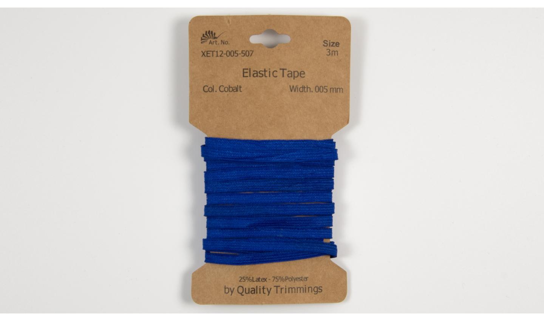 Karte 3m Elastik Gummi 5mm breit in kobalt (507)