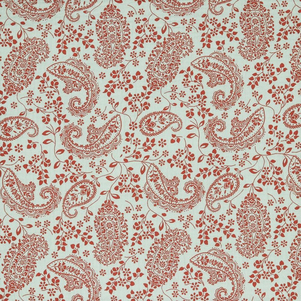 "0,79m Reststück    Baumwolle Musselin Double Gauze (Organic Cotton) ""Paisley"" - light old green"