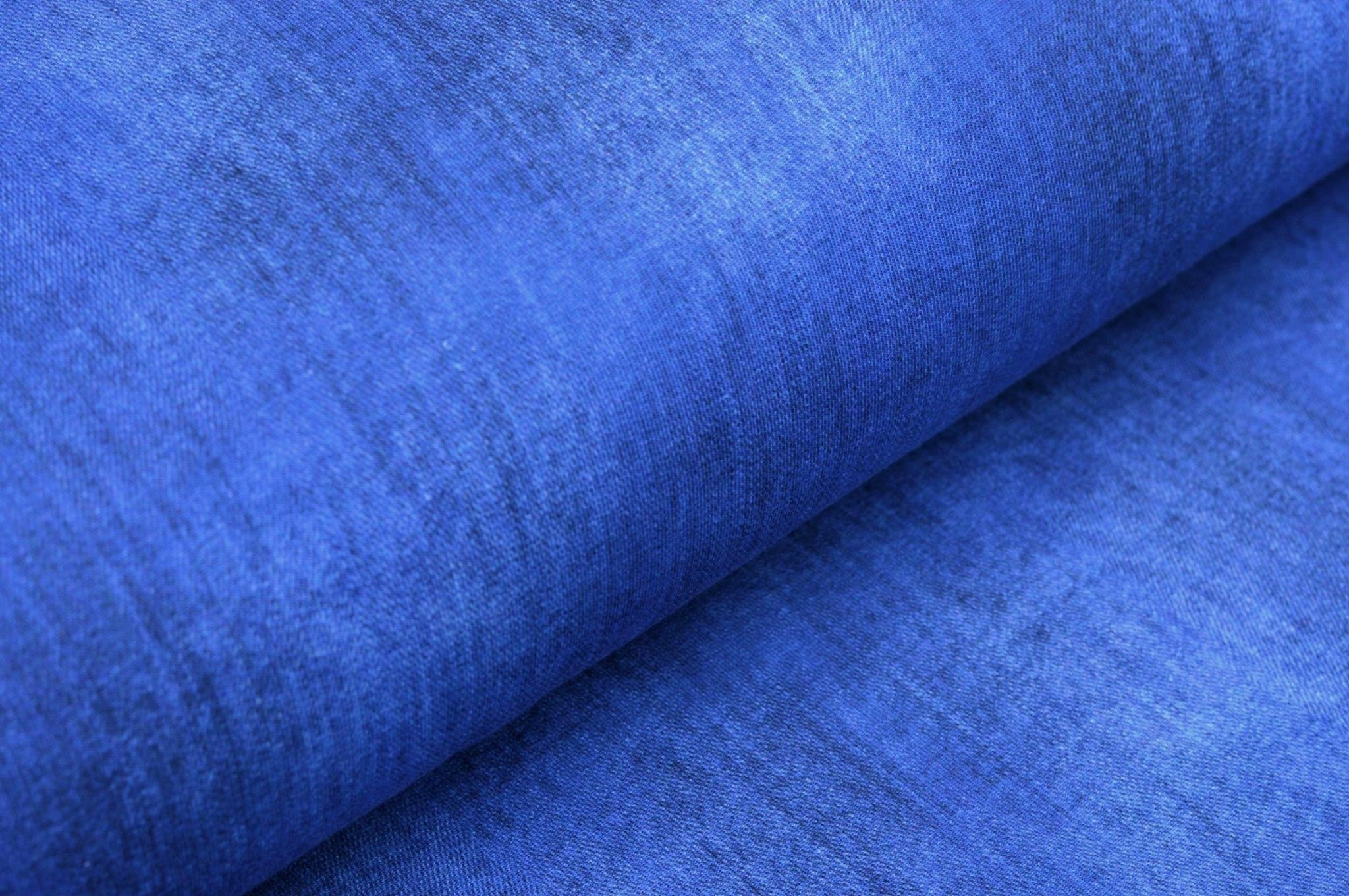 Digitaljersey uni dunkelblau - Jeansoptik