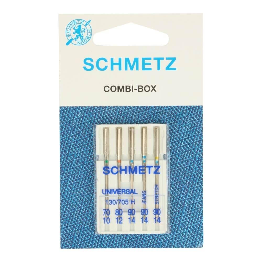 Schmetz Kombi-Box Nähmaschinennadeln Universal, Jeans, Stretch