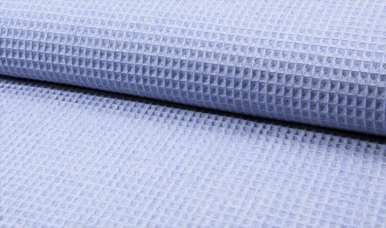 Waffelstoff melange dusty blue