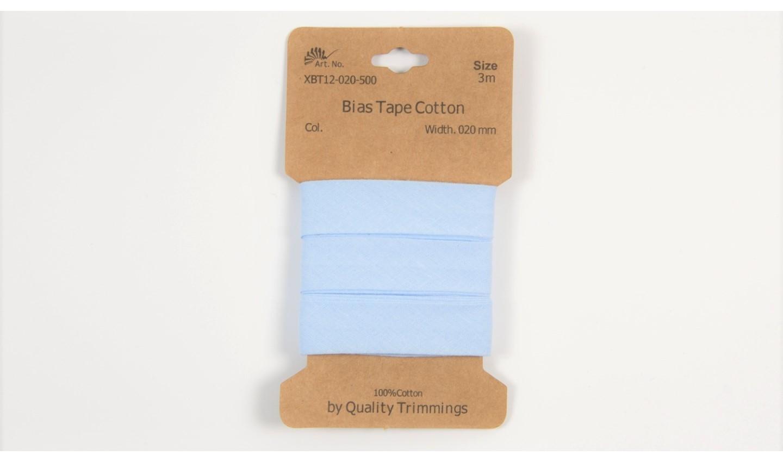 Karte 3m Baumwoll-Schrägband 20mm breit in baby blau (500)