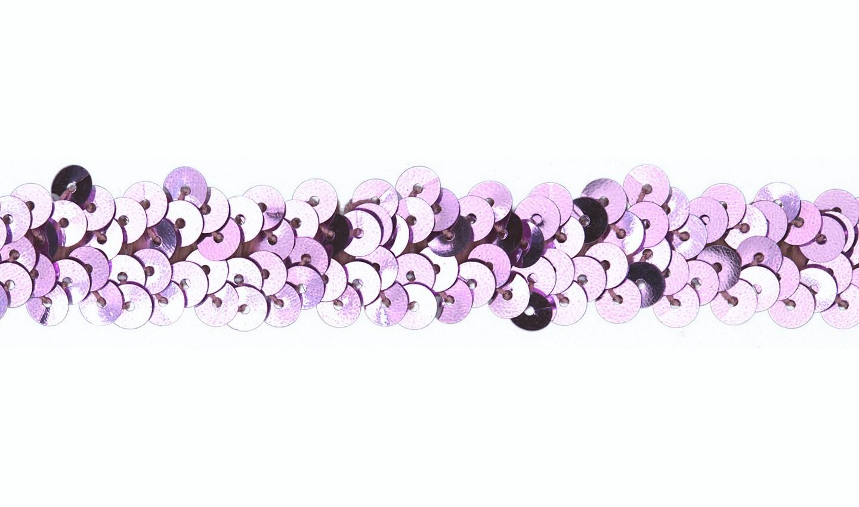 Pailletten Gummiband 20mm baby rose (511)