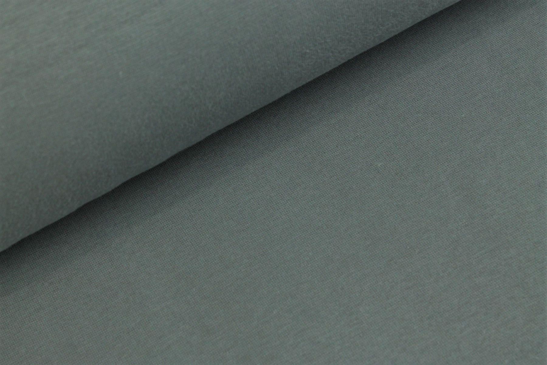 Bündchenstoff uni grau