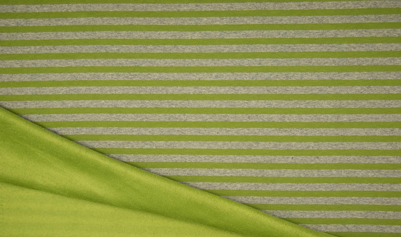 Alpenfleece mit lime/grauen Streifen