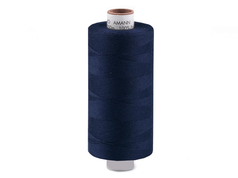 Amann Polyester Aspo Garn 1000m - dunkelblau (0825)