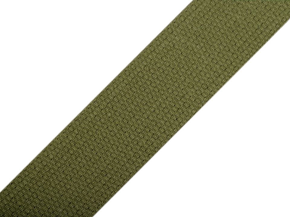 Gurtband Baumwolle 30mm uni khaki