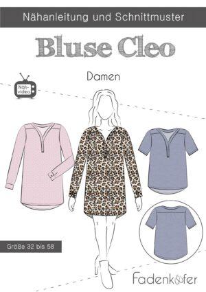 Papierschnittmuster Bluse Cleo für Damen 32-58 von Fadenkäfer