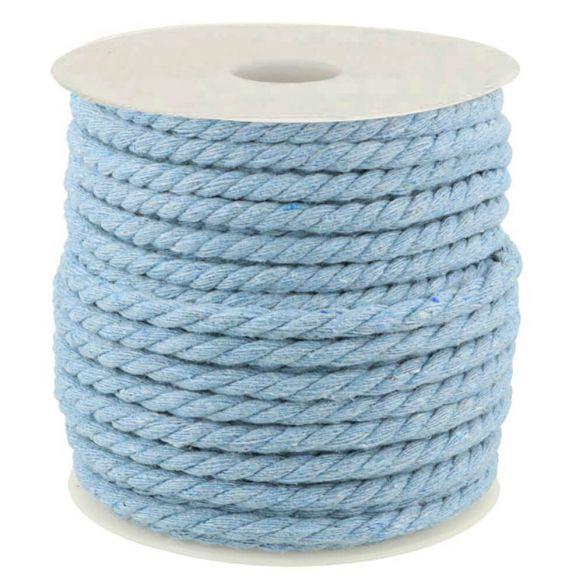 Kordel gedreht Baumwolle 6mm uni hellblau