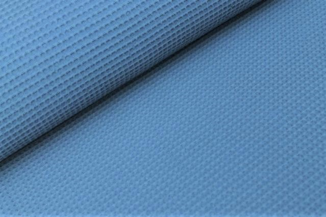 0,82m Reststück       Waffelstoff uni new jeans