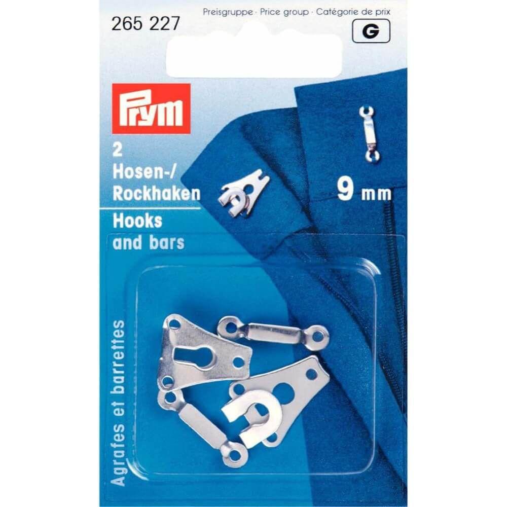 Prym Hosen/Rockhaken und Stege ST 9mm silber