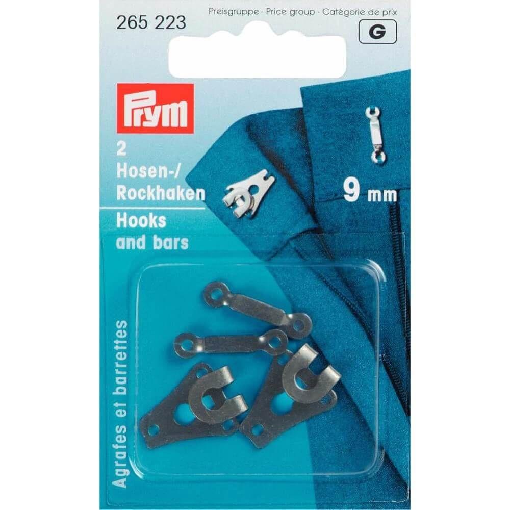 Prym Hosen/Rockhaken und Stege ST 9mm schwarz