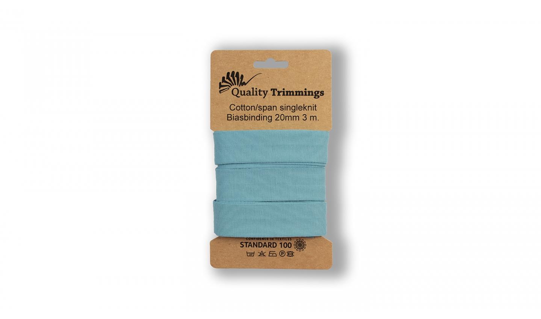 Schrägband Jersey Ben uni dusty blue (205) Karte 3m