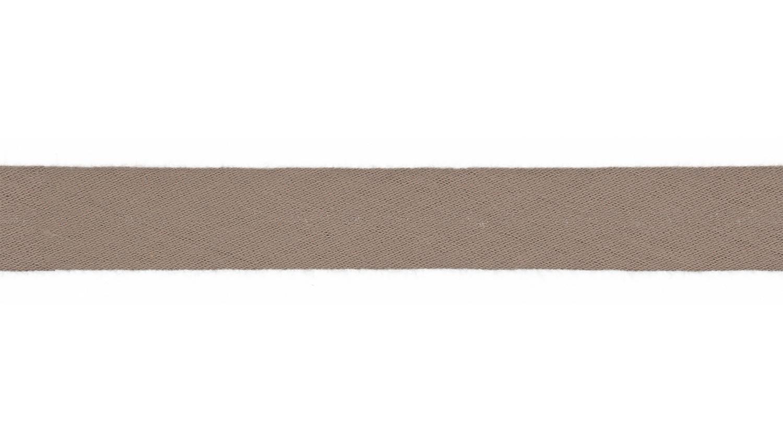 Schrägband Musselin uni taupe (055)
