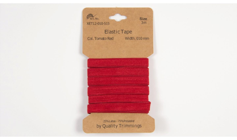 Karte 3m Elastik Gummi 10mm breit in rot (515)
