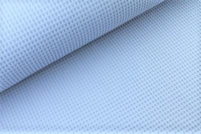 Waffelstoff uni jeansblau