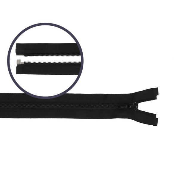 Reissverschluss teilbar Nylon schwarz, 25cm