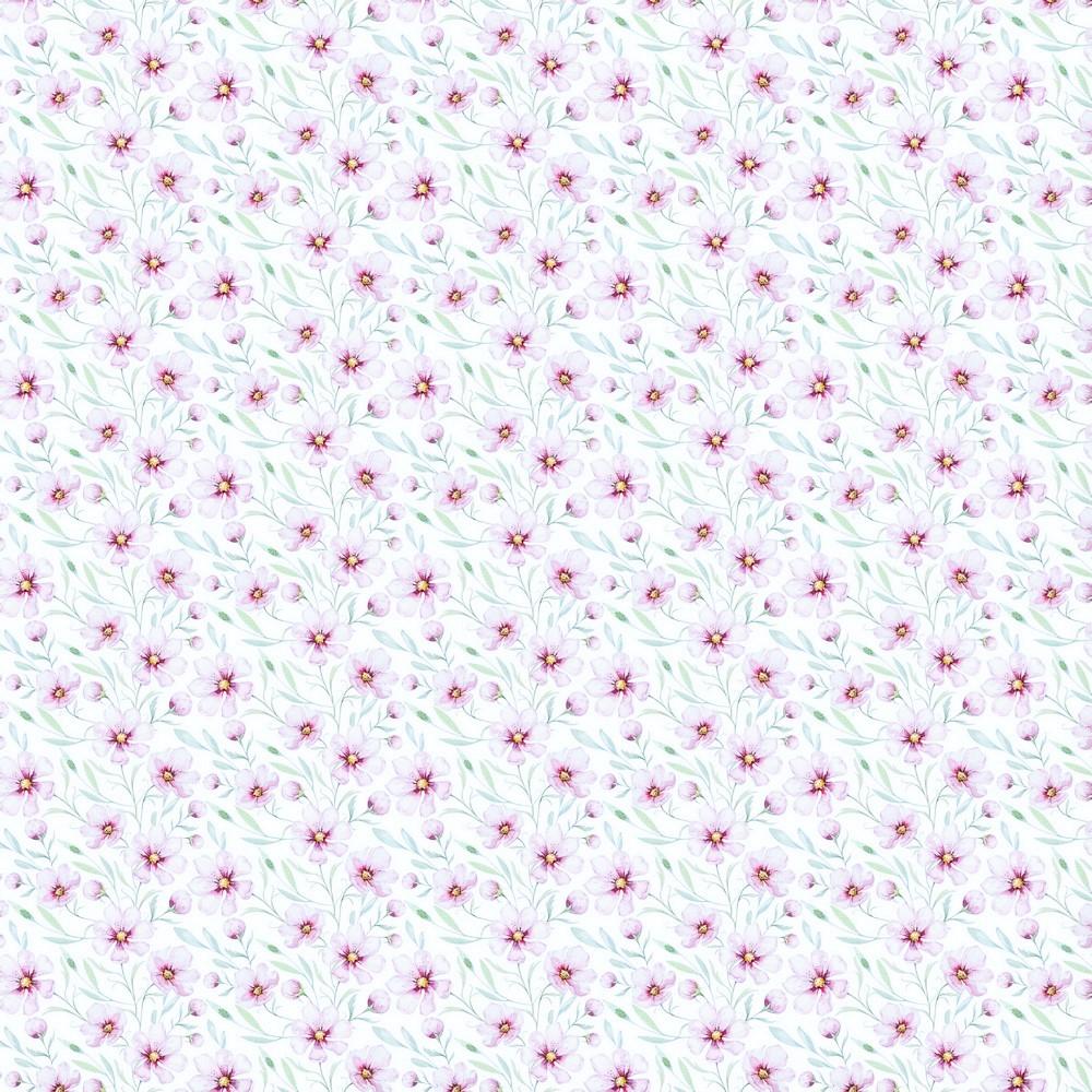 "Digitaljersey Organic Cotton ""Spring Blossom"" - weiß"