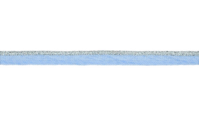 Paspelband mit Lurex uni baby blue 10mm