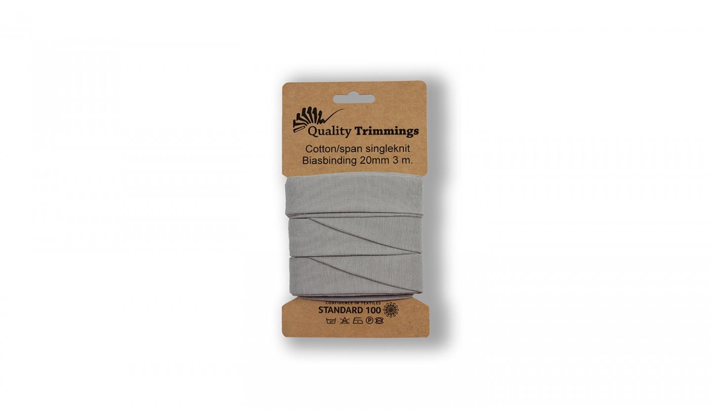 Schrägband Jersey Ben uni silbergrau (061) Karte 3m