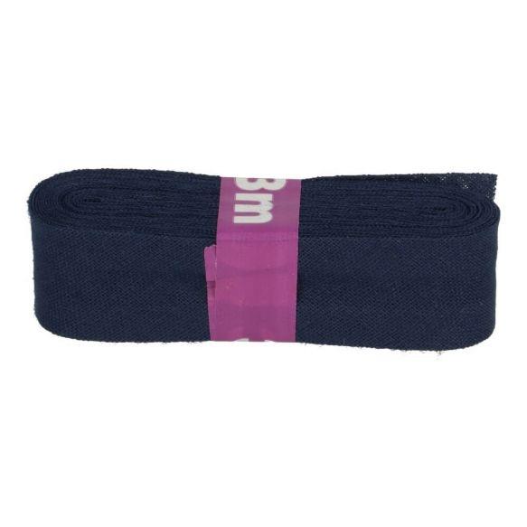 3m Baumwoll Schrägband uni dunkelblau 12mm
