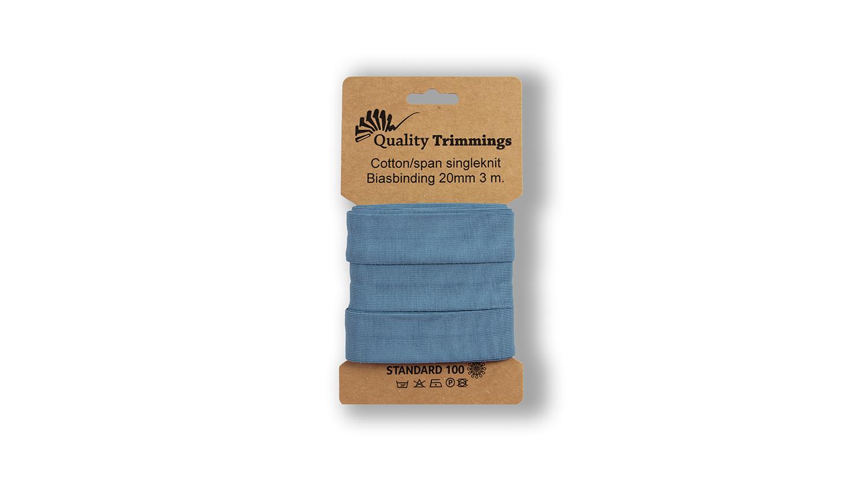 Schrägband Jersey Ben uni jeans (006) Karte 3m