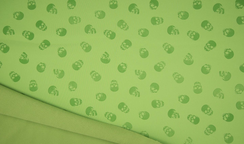 Softshell Magic Skulls in lime