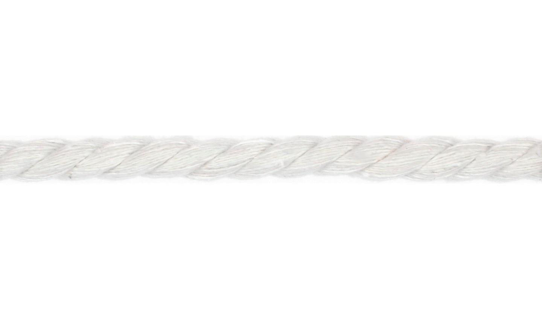 Kordel Baumwolle rund 10mm uni weiß