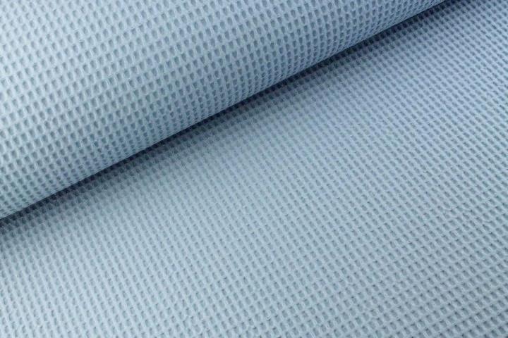 Waffelstoff uni iceblau