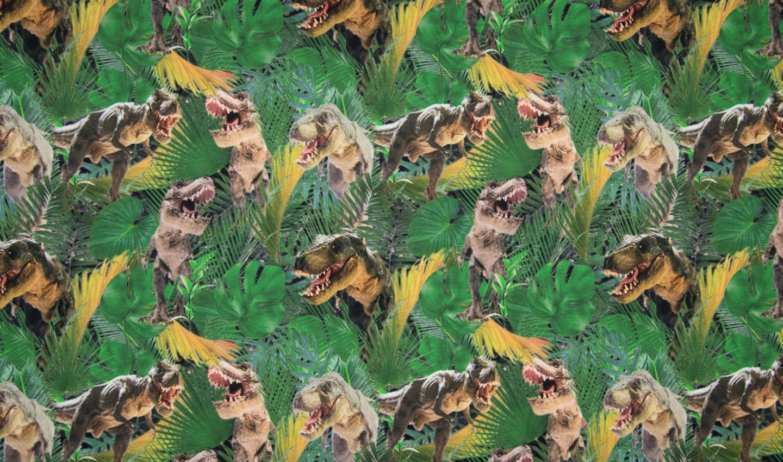"Sommersweat Digital ""T-Rex"" - grün"