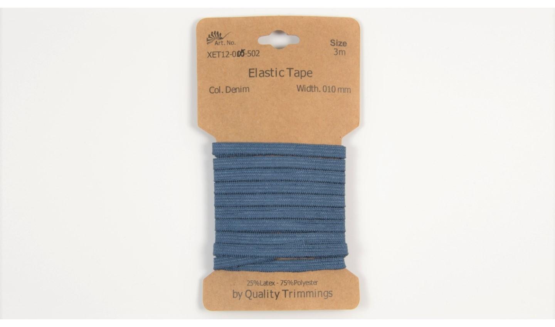 Karte 3m Elastik Gummi 5mm breit in jeansblau (502)