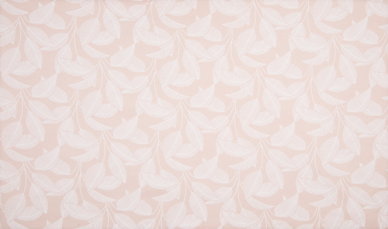 "Sommersweat Organic Cotton angeraut ""Leaves"" - hell aprikot"